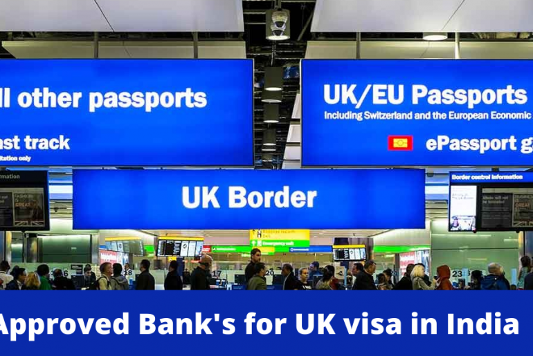Approved Bank's for UK visa applications in India